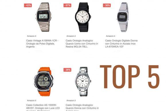 I cinque orologi Casio più venduti su Amazon